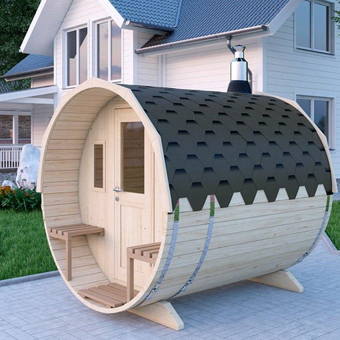 Sauna confectionata din lemn