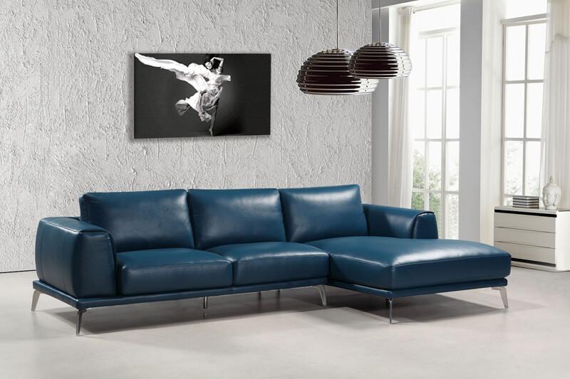 materiale pentru canapelele de culoare albastra