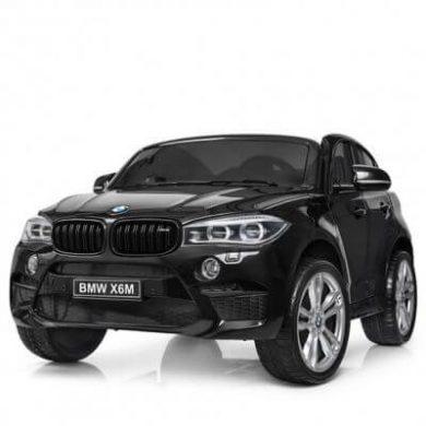 Masinuta electrica BMW X6 M XXL Black cu doua locuri si roti de cauciuc