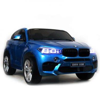 Masinuta electrica BMW X6 M XXL Blue cu doua locuri si roti de cauciuc