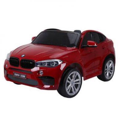 Masinuta electrica BMW X6 M XXL Red cu doua locuri si roti de cauciuc