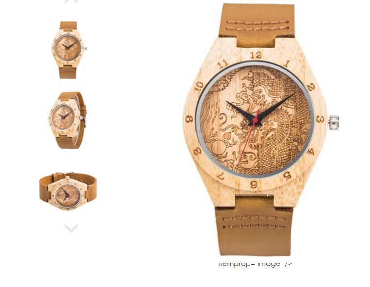 ceas din lemn barbati