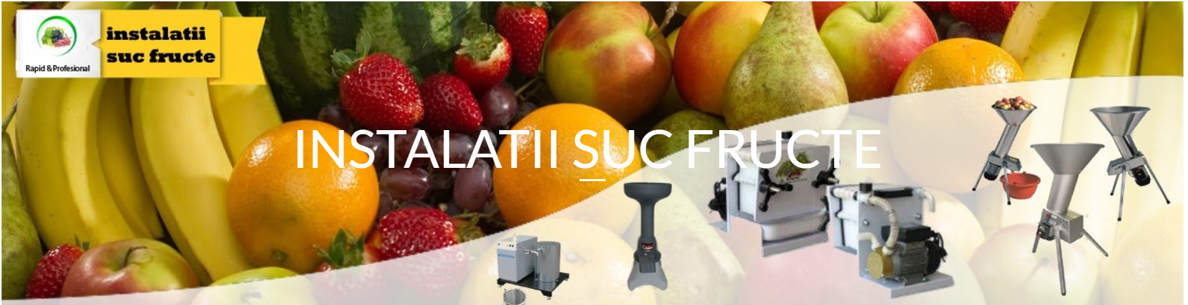 instalatii suc de fructe