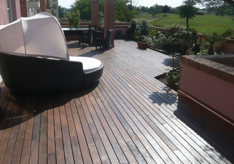 pardoseala de exterior - deck wpc lemn