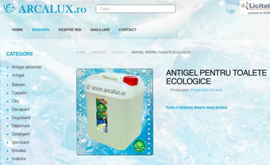 Antigel Toalete Ecologice