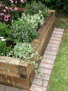 wood railway sleepers
